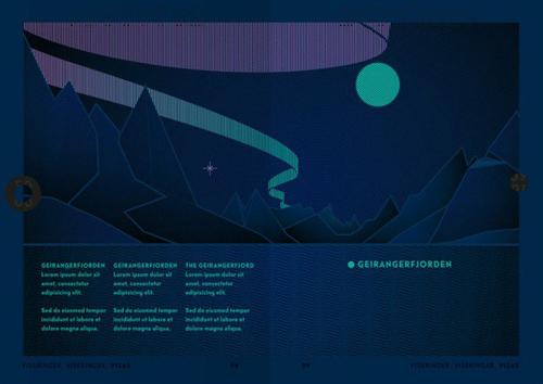 Na UyNếunhìn vào bên trong cuốn hộ chiếu của người dân Na Uy dưới ánh đèn UV, bạn sẽ thấy một bức tranhvề cảnh Bắc Cực quang chiếu trên bầu trời, phía dưới là những dãy núi cao. Đây là bức tranh do nhóm thiết kế Neue lấyý tưởng từ chính phong cảnh của nước này. Phần bìa của cuốn hộ chiếu có cả ba loại với ba màu khác nhau là trắng, đỏ và xanh trời. Theo Citylab, mỗi màu dành cho một nhóm,trắng chongười nhập cư, đỏ chocông dân của Na Uy và xanh trời cho các nhân viênngoại giao. Ảnh: neue.no/File.