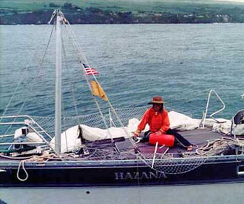 Chiếc thuyền buồm Hazana sau cơn bão. Ảnh: Imagemag.