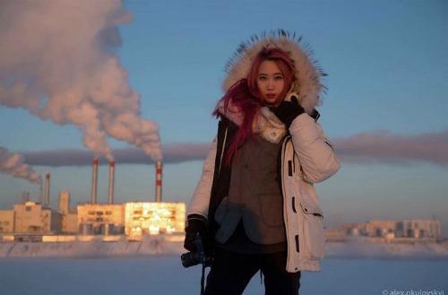 Công ty lữ hành Visit Yakutia chia sẻ bức ảnh một du khách người Việt đến thăm vùng Yakutsk. Ảnh:Alexey Okulovsky.