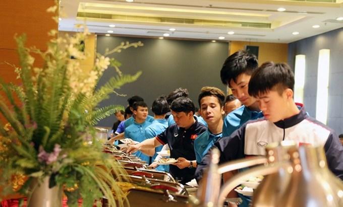Bên trong khách sạn U23 Việt Nam nghỉ trước trận gặp Qatar