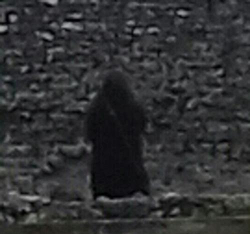 Bức ảnh được phóng to. Nhà săn maTigwell cho biết sau khi nghiên cứu kỹ tòa lâu đài, ông không thể giải thích nổi hiện tượng mà Wickes chụp được. Ảnh: Mecury Press&Media.