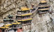 Bí ẩn của ngôi chùa 'dính chặt' vào vách núi ở Trung Quốc