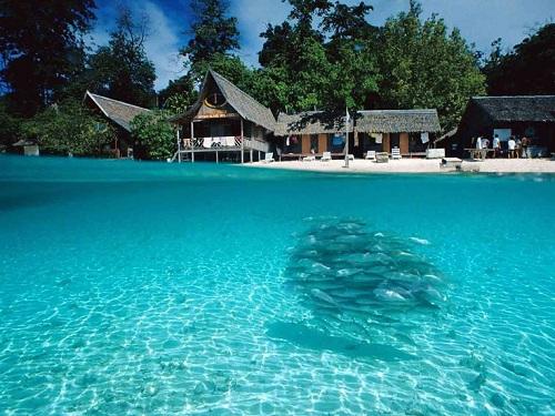 Bãi biển Juara, đảo Tioman, MalaysiaĐảo Tioman và các bãi biển của nó là một phần của khu bảo tồn thiên nhiên cùng tên, được bảo vệ nghiêm ngặt. Một số loài động vật có vú, chim và bò sát có thể tìm thấy như loài chim cốc biển hay rùa mai mềm.Hòn đảo có kha khá bãi tắm cho du khách tận hưởng nhưng Juara lại điểm đáng đến nhất. Ảnh:Pinterest.
