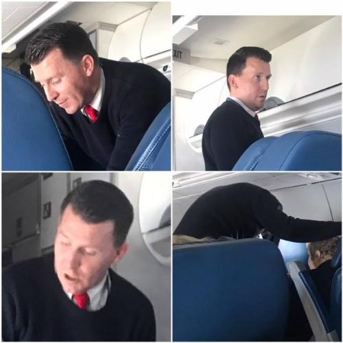 Sharon, một hành khách có mặt trên chuyến bay và làm việc trong bệnh viện ở Michigan đã chụp lại hình ảnh nam tiếp viên Jones khi anh chăm sóc bà cụ. Cô cũng bày tỏ sự cảm kích với hành động tốt đẹp của anh và đăng trên Facebook. Câu chuyện nhanh chóng được mọi người quan tâm. Ảnh: Goodnewsnetwork.