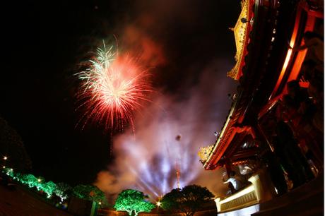 Đêm khai mạc Festival Huế 2018 diễn ra vào ngày 27/4 tại Quảng trường Ngọ Môn. Ảnh: Đắc Thành.