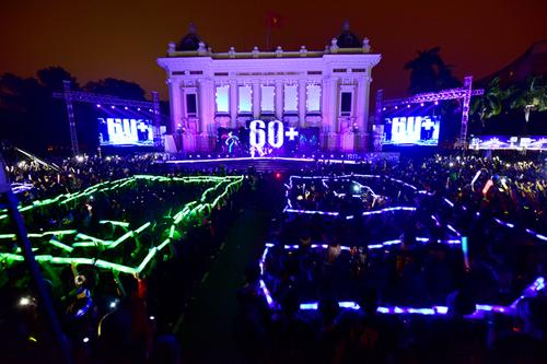 Sự kiện Tắt đèn tổ chức ở Hà Nội năm 2017. Ảnh: Giang Huy.