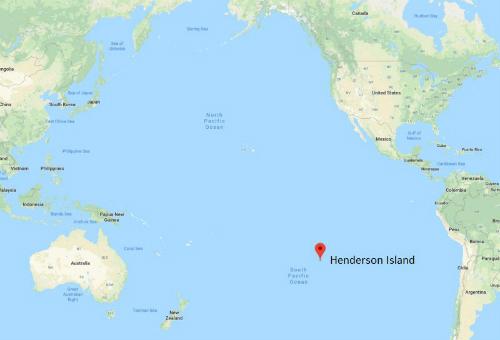 Henderson là hòn đảo xa xôi chỉ như một chấm nhỏ trên bản đồ.