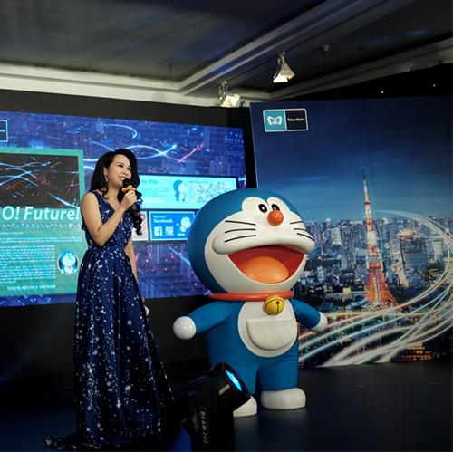 Doraemon - nhân vật đại diện cho chiến dịch ra mắt quan khách tại buổi họp báo.