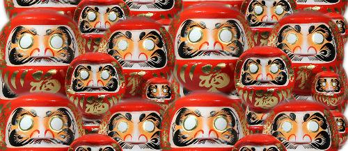 Búp bê may mắn Daruma ra đời vào thời đại Edo. Ảnh: JC.