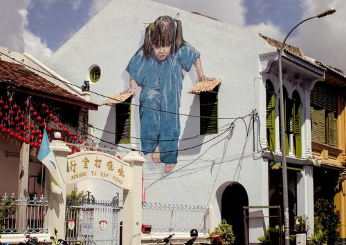 Penang nổi tiếng với những bức tranh tường sống động. Ảnh: Duyên Mới.