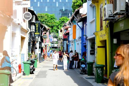 Khu phố Arab ở Singapore có nhiều cửa hàng, quán xá, bạn có thể tới đây để mua sắm từ quần áo, trang sức cho tới những phụ kiện lạ do người dân địa phương làm thủ công.
