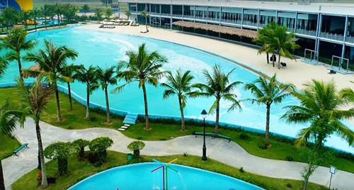 Khu bãi biển nhân tạo có diện tích mặt nước5.000 m2.