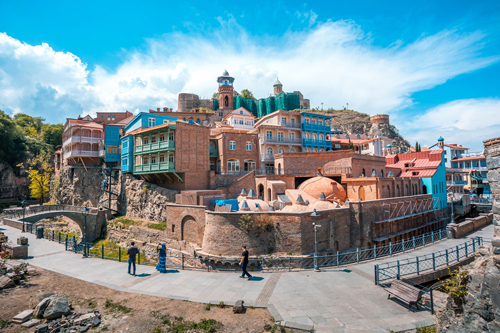 Khu phố cổ của Tbilisi, Georgia.