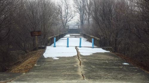 Cầu ngừng hoạt động năm 1976 sau khi xảy ra sự kiến gây chấn động thế giới - Axe Murder. Ảnh:Seoul guide.