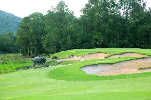 Sân golf ở Huế vẫn giữ những nét đặc trưng, truyền thống Việt Nam.