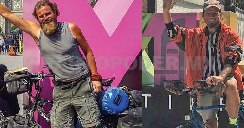Holger Hagenbusch (ảnh trái) vàKrzystof Chmielewski có kinh nghiệm đạp xe vòng quanh thế giới từ 3-4 năm. Ảnh: InfoGlitz.
