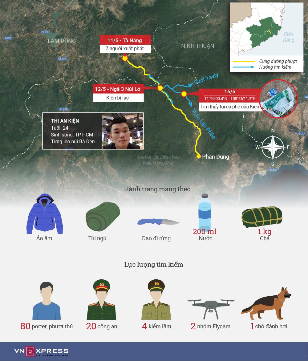 Hành trình tìm kiếm du khách mất tích 7 ngày ở Tà Năng