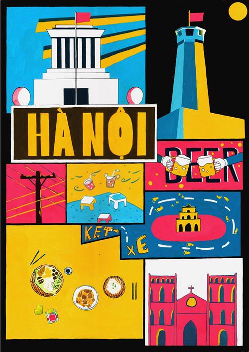 Hà Nội, Sài Gòn thu nhỏ trong tranh đồ họa