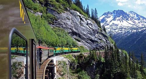 White Pass & Yukon Route, MỹTuyến đường sắt này nằm ở bang Alaska, Mỹ. Nó không chỉ nguy hiểm vì đi qua tuyến đường rất hẹp, mà một bên đường là vách núi dựng đứng, bên còn lại là vực sâu thăm thẳm.
