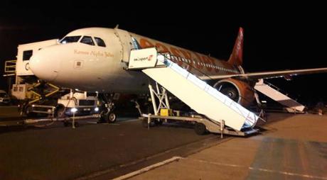 Máy bay đã hạ cánh xuốngsân bay quốc tếBelfast vào 13h51 ngày 23/5. Ảnh: Telegraph