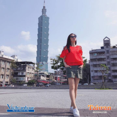 Tòa tháp Taipei 101.