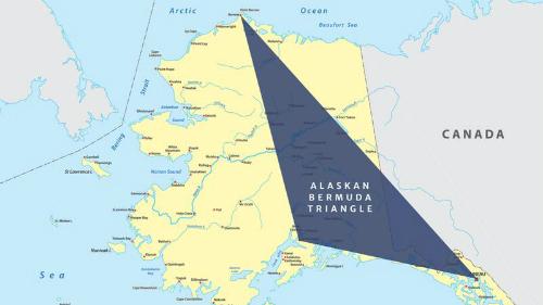 Khu vực Tam giác Alaska trên bản đồ. Ảnh: Google Maps.