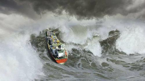 Sóng sát thủ từng là thủ phạm nuốt chửng nhiều tàu bè trên biển. Ảnh: