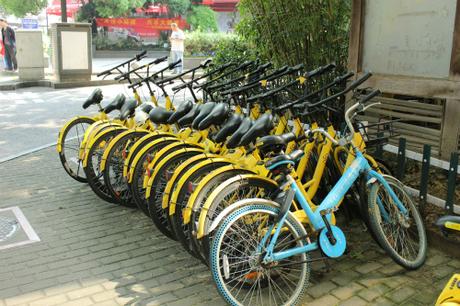 Dịch vụ bike-sharing rất phổ biến ở Trung Quốc