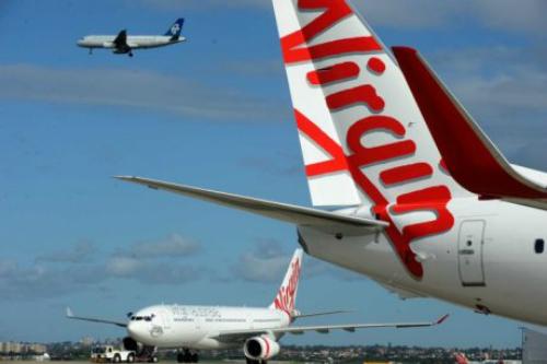 Chuyến bay của hãng Virgin Australia phải hạ cánh khẩn ở sân bay Adelaide. Ảnh: ABC.