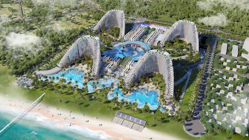 Bể bơi luôn là công trình tiện ích hàng đầu trong mỗi dự án bất động sản nghỉ dưỡng, tiện ích này không chỉ đơn thuần để phục vụ nhu cầu của du khách mà còn thể hiện đẳng cấp, vị trí của dự án trên thị trường. Mong muốn ghi dấu ấn với hạng mục bể bơi ấn tượng, Công ty cổ phần Đầu tư và xây dựng Vịnh Nha Trang dành nhiều tâm huyết để tạo những nét riêng trong thiết kế, đặc biệt là xây dựng nên hệ thống tiện ích quy mô chưa từng có, trong đó có bể bơi.Tiếp nối thành công của công ty với Panorama Nha Trang có bể bơi vô cực đáy kính trên nóc toà nhà, khu resort mới The Arena đang tạo cơn sốt trên thị trường nhờ những giá trị khác biệt, phù hợp với xu hướng nghỉ dưỡng  giải trí tương lai.