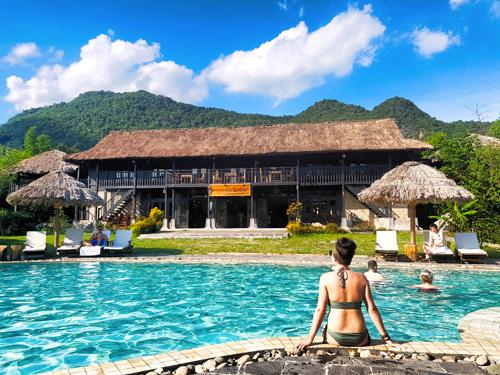 Khu nghỉ như ốc đảo xanh mát vùng cao mà chỉ cần bạn lọt vào đó thì sẽ sở hữu hàng loạt bức ảnh ưng ý.
