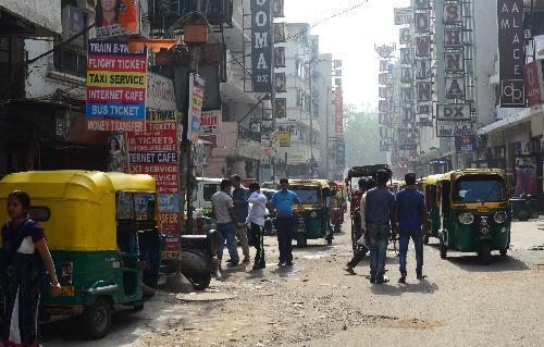 Đường phố ở Ấn Độ. Ảnh: Hồng Nhung.