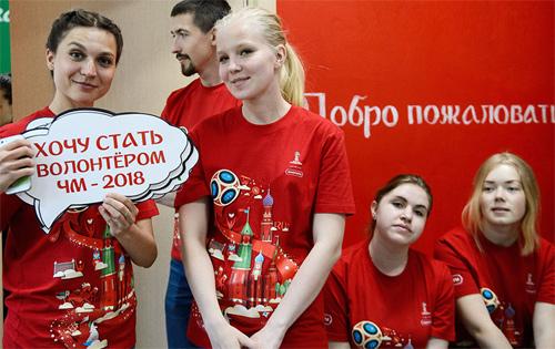 Nhiều bạn trẻ Nga tham gia giúp đỡ khách tới thăm nước Nga dịp World Cup. Ảnh minh họa: Welcome 2018.