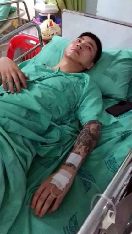 Zhang được điều trị trong viện. Ảnh:Sohu.
