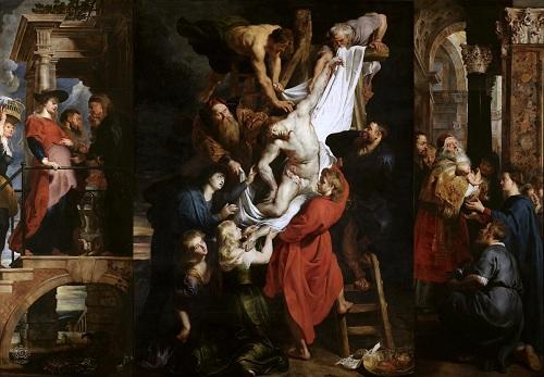 Kiệt tácThe Desent from the Cross (Đưa Chúa Jesus xuống khỏi Thập Tự Giá) của Peter Paul Rubens. Ảnh: Twitter.