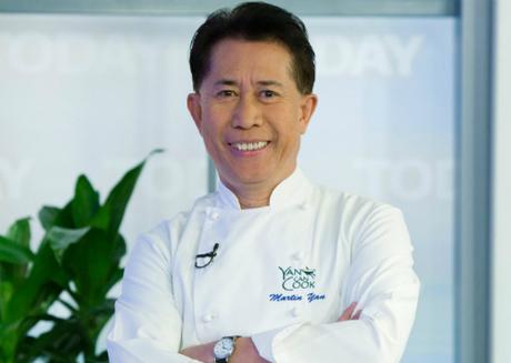 Đầu bếp Martin Yan đã ngoài 69 tuổi và thường xuyên ăn chay để trẻ khoẻ. Ảnh: T.T.
