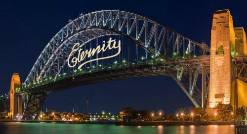 Dòng chữ nổi tiếng ở Sydney - nơi hút nhiều du khách. Ảnh: Amusing.