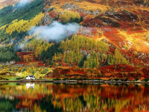 Khung cảnh mùa thu tuyệt đẹp ở Highlands, Scotland. Ảnh: Business Insider