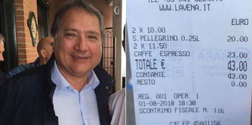 Juan đăng hóa đơn cà phê mình phải trả lên mạng. Ảnh: Facebook.