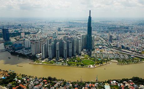 Tòa nhà cao 81 tầng ở Sài Gòn. Ảnh: Quỳnh Trần.