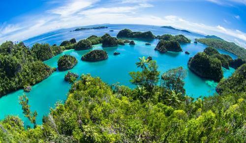 Indonesia được tạo thành từ 18.307 hòn đảo và là quốc đảo lớn nhất thế giới, với diện tích gần 2 triệu km2. Quốc gia này có biệt danh là quốc gia vạn đảo. Ảnh: World Atlas.