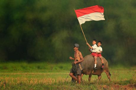 Cờ của Monaco, Indonesia và Ba Lan rất giống nhau, gồm hai sọc đỏ và trắng. Những lá cờ này đều có lịch sử kéo dài hàng trăm năm. Do vậy, cờ của Indonesia thường nằm trong danh sách các lá quốc kỳ dễ bị nhầm lẫn nhất trên thế giới. Ảnh: Crwflags.
