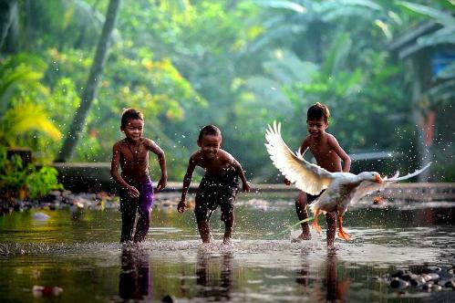 Tiếng Bahasa Indonesia là ngôn ngữ chính thức. Ngoài ra, quốc gia này còn có hơn 700 ngôn ngữ khác được sử dụng. Riêng tình Papua, người dân ở đây sử dụng 270 ngôn ngữ. Java là ngôn ngữ thứ hai được sử dụng rộng rãi tại Indonesia, với 84 triệu người biết nói. Ảnh: