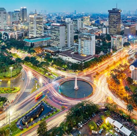 Những địa điểm được gắn thẻ nhiều nhất ở Jakarta là các nhà hàng và kiến trúc cao tầng của thành phố. Ảnh: CNN.