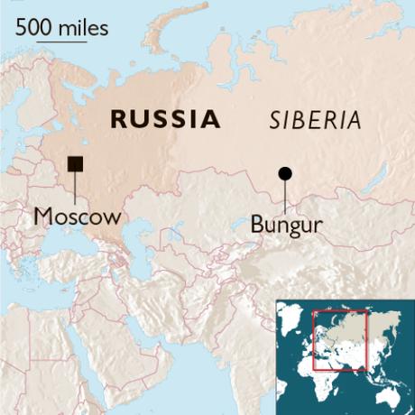 Làng Bungur có khoảng 600 người, cách Moskva hơn 800 km. Ảnh:The Times.