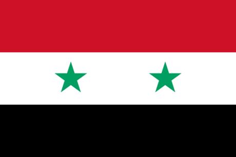 Hai ngôi sao trên lá quốc kỳ của nước này tượng trưng cho liên minh trước đây giữa Ai Cập và Syria. Ảnh: Flags of countries.