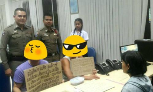 Khách Tây bị cảnh sát Thái Lan bắt vì xin tiền đi du lịch