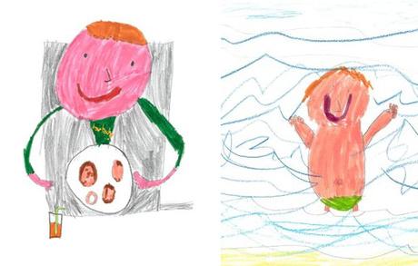 Edward vẽ lại các trải nghiệm của mình tại nơi nghỉ mát như ăn sáng, bơi lội.
