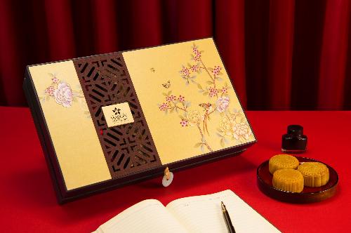 Hộp Đam Mê: gồm 2 bánh 120g và 4 bánh 80g  Trứng nghiền Hong Kong, trà Ô Long, Thập cẩm, Sen trắng trứng mặn, Đậu đỏ, Đậu xanh.