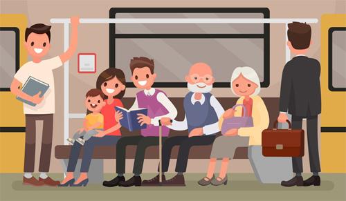 Các thanh niên nên nhường chỗ cho người già, trẻ nhỏ.